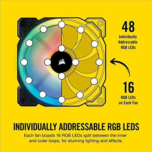 Corsair LL Series LL120 RGB 120mm Dual Light Loop RGB LED PWM Fan 3 Fan Pack with Lighting Node Pro (CO-9050072-WW)