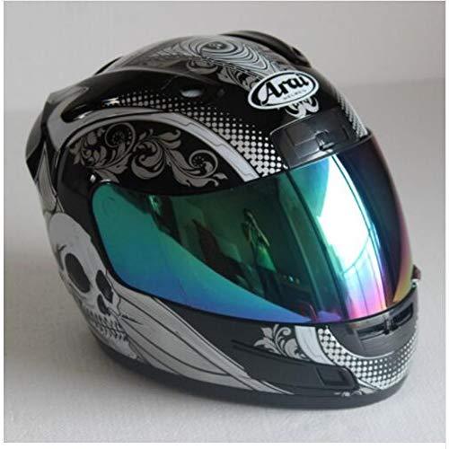 MTCTK Casco Integrale Di Sicurezza Arai Racing Motorcycle Motocross Certificazione Ece Uomo Donna Casco Moto Casque,Xl