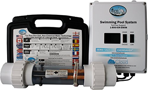 Professional Grade Products 9800662 EcoSmarte Pool Turbo Non-Salt and Non-Chlorine Fresh Water Cleansing and Filtration System for Swimming Pools Up to 50000 gal, 220 V