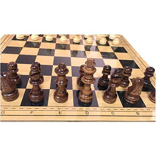 MNBV Juego de ajedrez de Viaje Plegable, Juego de ajedrez de Madera, Tablero de ajedrez de Almacenamiento portátil, Juego de Piezas de ajedrez magnético de Viaje para niños y Adultos