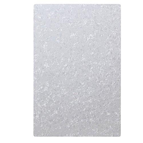 Yibuy 29 x 43 cm blanco perla 3 capas en blanco placa de arañazos guitarra golpeador hojas