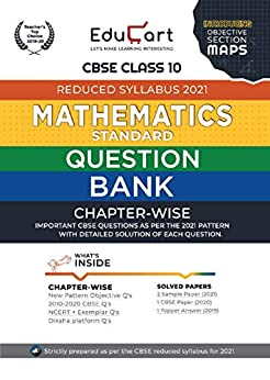 Educart CBSE Maths Class 10 Question Bank (Reduced Syllabus) for 2021 by [Educart]