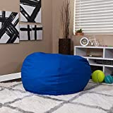Flash Furniture Oversized Solid Royal Blue Bean Bag Chair for Kids and Adults