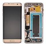 Piezas de recambio Pantalla LCD + ensamblaje del digitalizador de pantalla táctil y marco y tablero de puertos de carga y botón de volumen y botón de encendido compatibles con Samsung Galaxy S7 Edge /