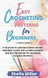 Easy Crocheting Patterns For Beginners: If you decided to learn how to crochet and don't know where to start, Here is a simple beginner's guide with ... tips, and creative challenges for experts.