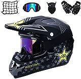 Motocross Helm,Motorrad Crosshelm für Mountainbike ATV BMX Downhill Offroad,Für Motorrad Crossbike...