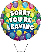 Novelty Sorry You're Leaving Balloon 12 Edible Stand up wafer paper cake toppers (5 - 10 BUSINESS DAYS DELIVERY FROM UK)