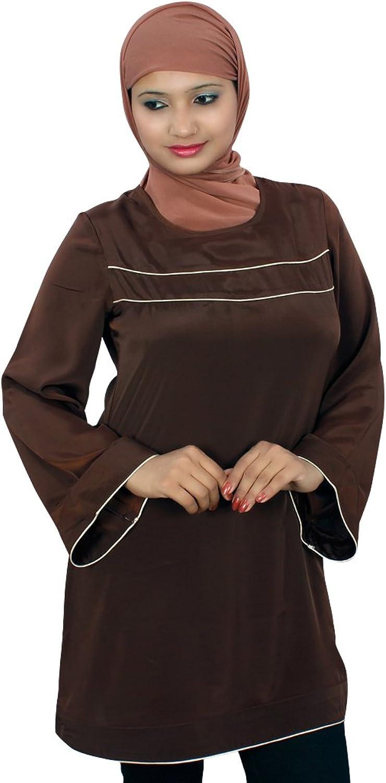 MyBatua Women's Muslim Clothing Selina Tunic in Brown