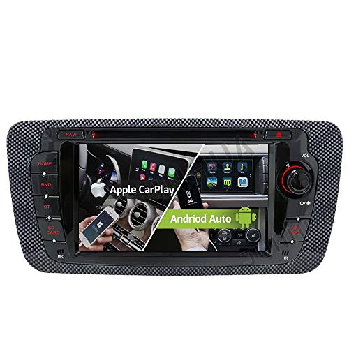 "Android 10.0 Dual-Tuner Autoradio Android Auto+Carplay 2G+32GB Quad-Core Rohm-DSP Bluetooth 5.0 mit Navigation 7"" DVD GPS DAB+ WiFi WLAN OBD2 AUX für SEAT Ibiza 2009-2013"