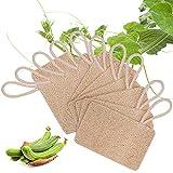 10 Piezas Loofah Esponja, Loofah Para Lavar Platos, Natural Esponja Estropajo, para Cocina, Biodegradable, Cero Residuos(7 * 11 cm)