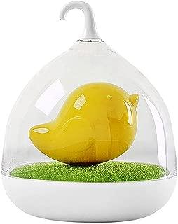 whatBYDs Miniature Garden Ornaments,Fairy Garden Figurines,Cartoon Birdcage/Elf LED Night Light USB Rechargeable Touch Lamp Bedroom Decor for Garden Dollhouse Xmas Decoration - Yellow Birdcage