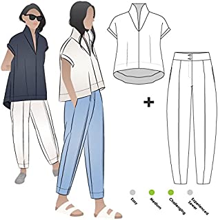 Style Arc Sewing Pattern - Teddy by Two Outfit (Sizes 18-30) - Click for Other Sizes Available