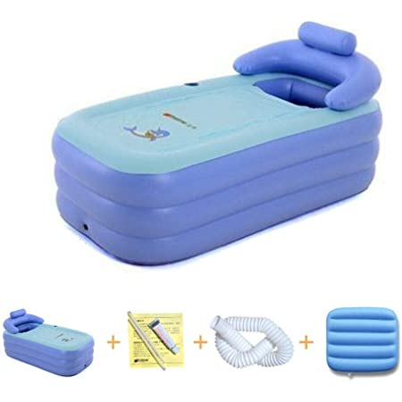 WUPYI2018 Baignoire gonflable pliable pour adulte, grande baignoire spa, baignoire chaude 160 x 84 x 64 cm
