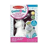 Melissa & Doug - Created by Me Kit de manualidades de hucha de unicornio para decorar tú mismo, con 6 botes de pintura, pegamento con purpurina y pincel