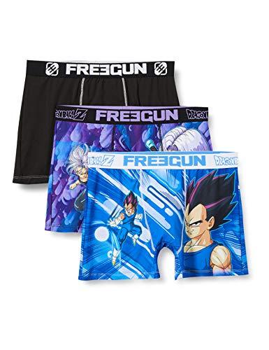 Freegun Herren DRAGON BALL GOKU ET SON GOHAN FG/DBZ/AM/1/PK3 Unterwäsche, P4, M (3er Pack)