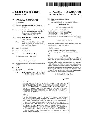 Correction of non-uniform patterns using time-shifted exposures: United States Patent 9823573 (English Edition)
