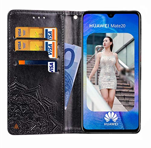 Mking Tech Für Huawei Mate 20 Pro/Mate 20 Lite Flip, Kreditkartensteckplatz, Portemonnaie-Handyhülle. Huawei Mate 20 Multi-Funktions-, Anti-Drop-, geprägte Handyschale
