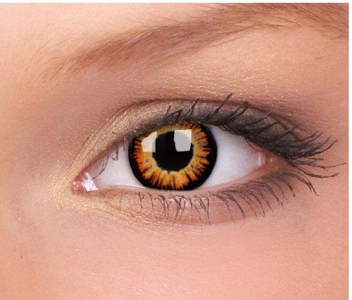 Eye Effect farbige Kontaktlinsen in vielen Farben für schöne natürliche Augen + gratis Kontaktlinsenbehälter (Twilight)