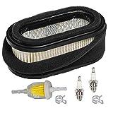 HIFROM Air Filter Combo Fuel Filter Spark Plug Tune Up Kit Replacement for Kawasaki FD440V FD501V John Deere LX172 LX173 LX176 LX178 LX186 LX188 Replaces 11013-2206 MIU11377 M115978