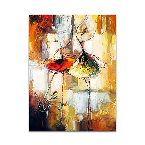 JHGJHK Pintura al óleo Abstracta de la Bailarina del Arte, Pintura Decorativa para la Sala de Estar y el Dormitorio (Imagen 3)