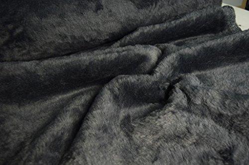 StoffBook BÄRCHENFELL TEDDYFELL FELL STOFF FELLIMITAT (Grau, 50x75cm)