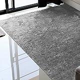 Alfombras Salon Grandes - Pelo Largo Alfombra Habitación Dormitorio Lavables Comedor Moderna Vivero (Gris Ratón, 160 x 230 cm)