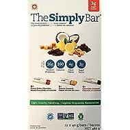 The Simply Bar Classic Variety Pack, Peanut Butter Chocolate, Lemon Coconut, Caramel Peanut, 3 Count Each