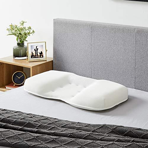 sweetgo Memory Pillow Graphene Smart Stop Almohada rellena de algodón con memoria, almohada cervical para el dolor de cuello y hombro, color blanco