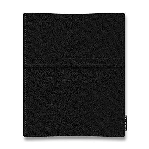 SIMON PIKE Ledertasche 'Atlanta',kompatibel mit Alcatel Plus 12,in schwarz 01