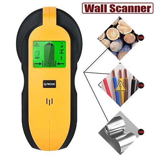 Zwhl Ortungsgerät Sensor Wandscanner, 4 In 1 Elektronische Stud Sensor Digital LCD Metalldetektor Suche Nagel Metall AC-Kabel Echtzeit Mauer Metall Detektor