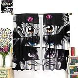 DRAGON VINES HunterxHunter Eyes Anime Poster- Cortinas residenciales para habitación (140 x 160 cm)