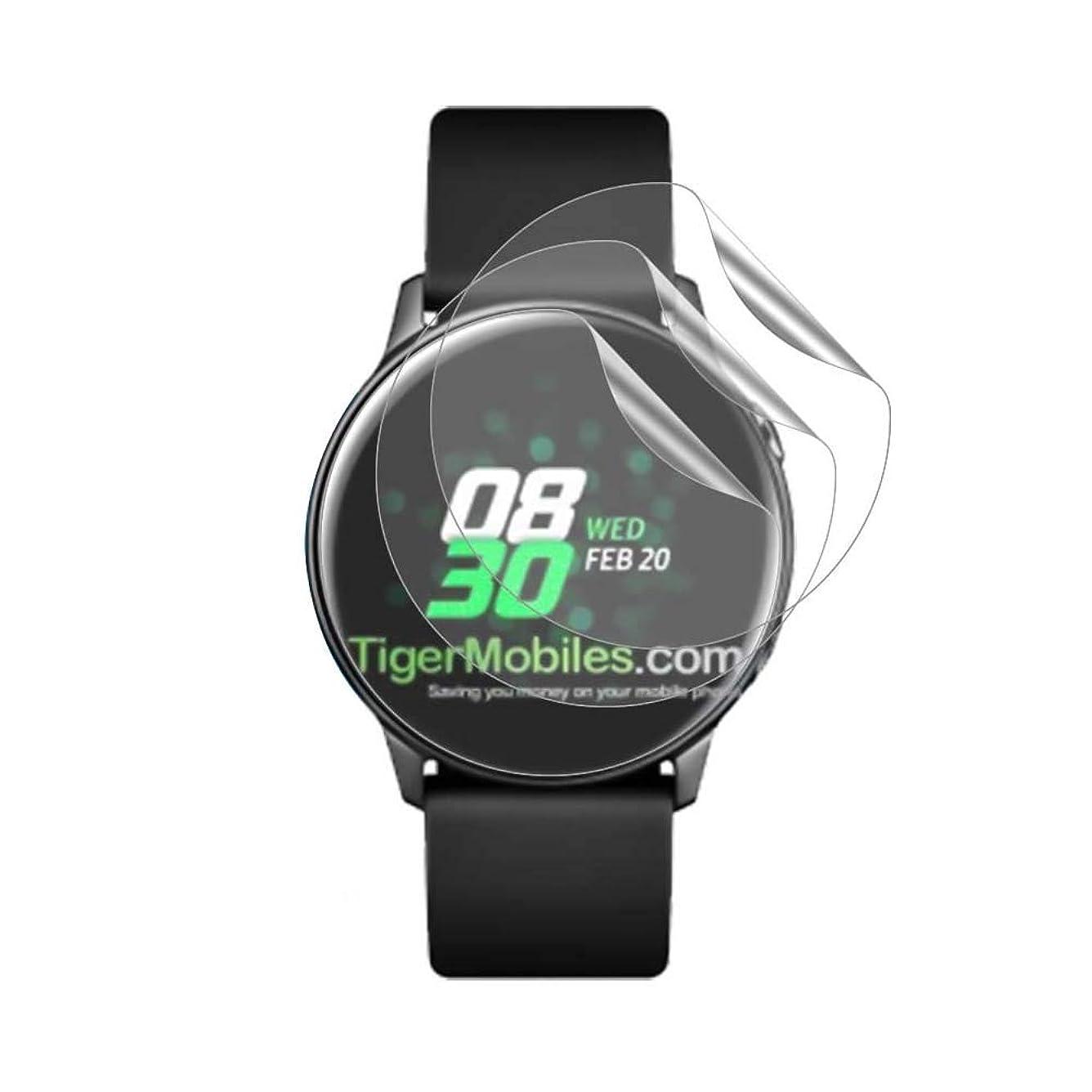 請求スコア枯渇Samsung Galaxy Watch Active 2019 40mm フィルム【3枚入り】,AROC ギャラクシーWatch Active 2019 40mm 液晶保護フィルム 超薄 柔らかいPET素材 傷修復性 光沢 気泡レス加工 Galaxy Watch Active 2019 40mm ソフトフィルム クリア