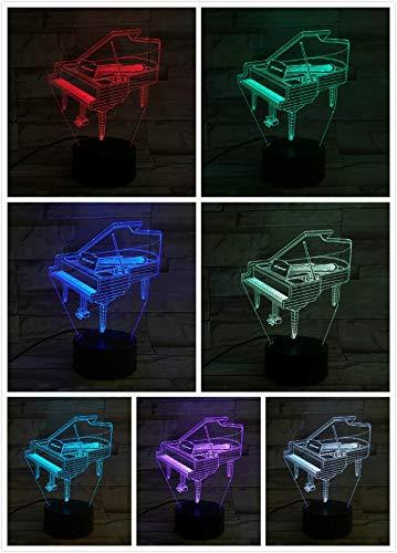 Klavier Musikinstrument Pianoforte Nachttisch Nachtlicht 3D LED USB Tischlampe Kinder Geburtstagsgeschenk Nachtzimmer Dekoration