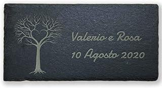 Tavoletta in Ardesia Naturale con Incisione Personalizzabile logo nomi disegni ecc 10x20 cm
