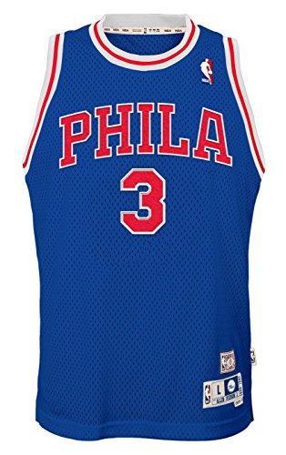 Outerstuff Allen Iverson Philadelphia 76ers NBA Youth Throwback Swingman Jersey - Blue