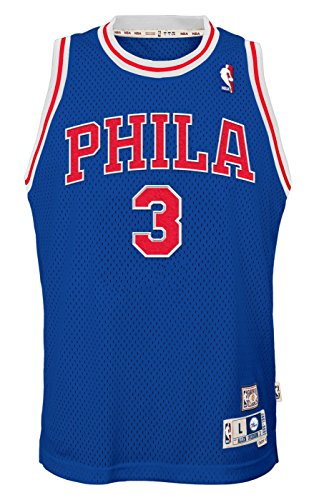 Outerstuff Allen Iverson Philadelphia 76ers NBA Youth Throwback Swingman Jersey - Blue