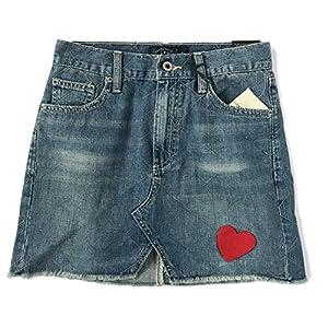 Women's Heart Embroidered Denim Mini Skirt
