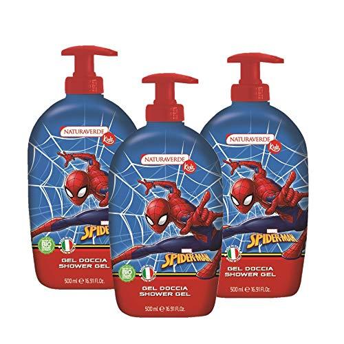 Set 3x500ml Gel Doccia Spiderman Naturaverde Kids