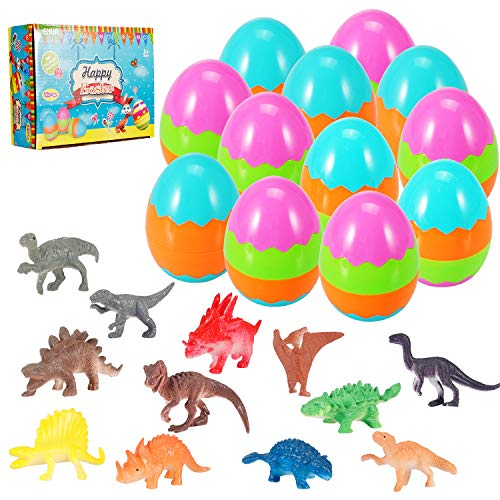 Review Of Easter Eggs Filled with Mini Dinosaurs, Perfect for Easter Basket, Party Favors, Easter Eg...