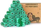 Cycluck 100% Biodegradabili Cacca di Cane Extra Spesso con Certificazione Europea EN13432 e Home Compost, Sacchetti Compostabili Sacchetti Cane Fatti da Amido di Mais (450 Sacchetti, Verde)