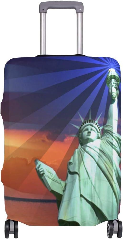 Funda para Maleta con diseño de la Estatua de la Libertad, Bandera Estadounidense y Estrellas