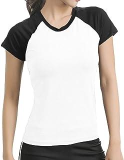 Richer レディース 速乾 ドライ Tシャツ スポーツ トレーニング シャツ 半袖Tシャツ 超軽量 吸汗 速乾 ヨガウェア フィットネス 運動着 スウェット