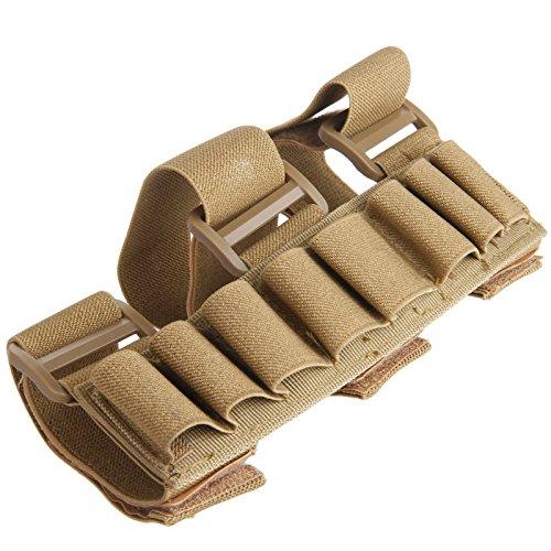Estuche con sujeción al brazo para 8 cartuchos de escopeta de caza (calibre 12, redondo)