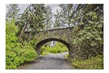 Spokane, Washington - Manito Park Stone Bridge Surrounded by Greenery 9026964 (Premium 500 Piece Jigsaw Puzzle for Adults, 13x19, Made in USA!)