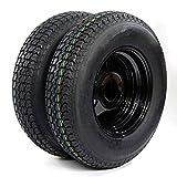 2 of Trailer Tubeless Tire & Rim ST175/80D13 5 Lug black Spoke LRC Bias (5x4.5 bolt circle) TIRES H188 17580D13 5 on 4.5' B78-13 Load Range C tires