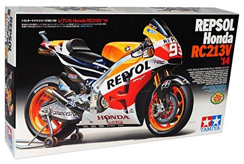 Tamiyia Hon-da RC213V 2014 Weltmeister Marc Marquez Nr 93 Repsol 14130 Kit Bausatz 1/12 Modell Motorrad mit individiuellem Wunschkennzeichen