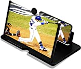 12'' Screen Magnifier For Cell Phone,Mobile Phone Magnifying Projector Screen With Stand, 3D Portable Universal Screen Amplifier For Videos And Gaming Screen Magnifying Phone Mount For All Smartphones