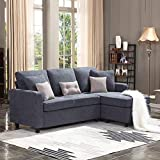 HONBAY Convertible Sectional Sofa Couch, L-Shaped Couch...