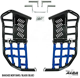 Yamaha Banshee YFZ 350 (1987-2006) Propeg Nerf Bars Black with Blue Net (More Net Color Choices Available)