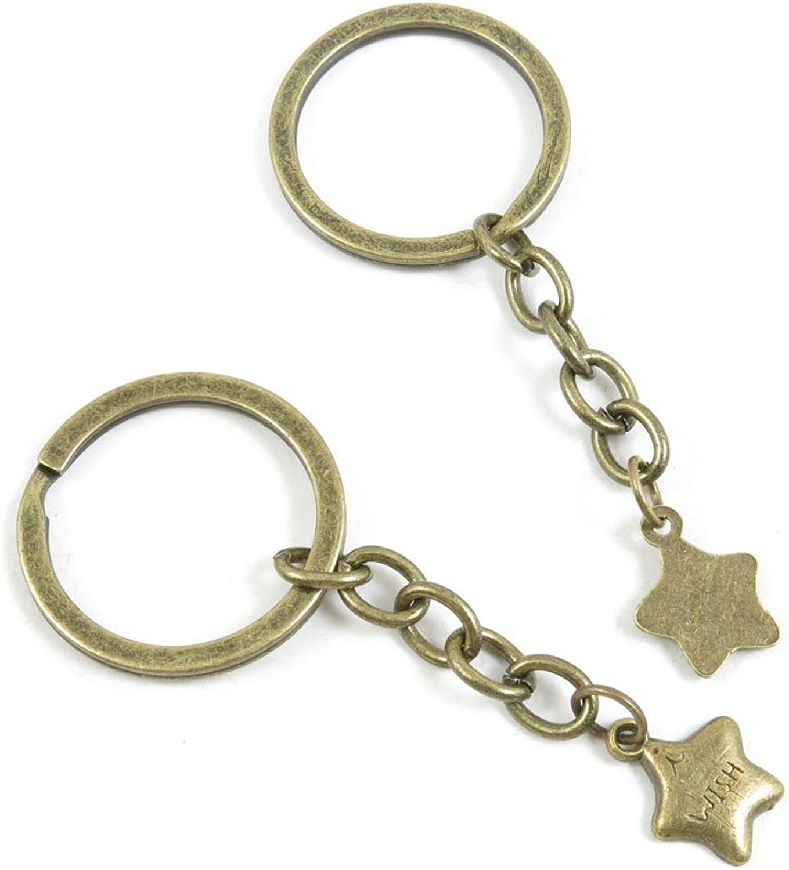 240 Pieces Fashion Jewelry Keyring Keychain Door Car Key Tag Ring Chain Supplier Supply Wholesale Bulk Lots Y9AD7 Wish Stars
